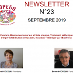 NEWSLETTER N° 23 – SEPTEMBRE 2019