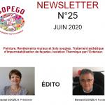 NEWSLETTER N° 25 – JUIN 2020