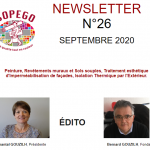 NEWSLETTER N° 26 – SEPTEMBRE 2020